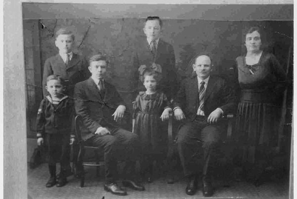 Basha Joseph and Children bw-72-gray